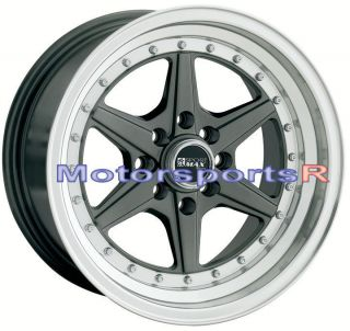 XXR 501 Gun Metal Deep Dish Wheels Rims 4x100 Stance 03 06 Scion xA xB