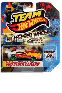 Hot Wheels High Speed Wheel Pro Stock Camaro with Green Wheels