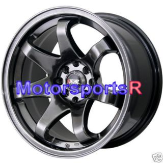 522 Chromium Black Concave Rims Wheels stance 91 94 Nissan 240sx S13