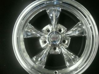REV WHEELS AMERICAN RACING LICENSED POLISHED TORQUE THRUST II CLASSIC