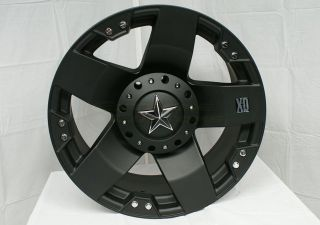 20x8 5 XD Rockstar Black Wheels Rims 8x170 w 275 55 20 Nitto Terra