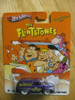 Hot Wheels 2012 Nostalgia Real Riders Flintstones 56 Ford F 100 Panel