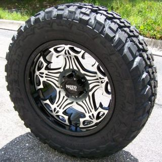 20 Motometal Skull Wheels 35 Federal MT Tires 6 Lug