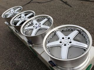 19 LEXION X503 VIP CHROME WHEELS RIMS RAYS VOLK 5x112 MERCEDES SL C350