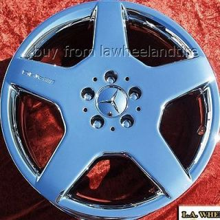 NEW MERCEDES BENZ S500 AMG OEM CHROME 18 WHEELS RIMS 65309 EXCHANGE