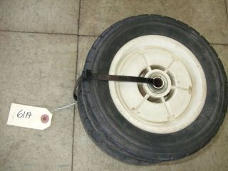 Vintage Honda Lawnmower Lawn Mower Front Push Wheels Tires 61A