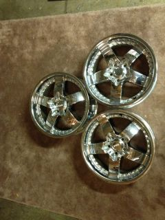 18 Damani Vanquish Chrome Rim Wheels Set of 3
