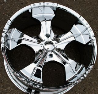 Panther Realm 280 22 Chrome Rims Wheels Nissan Armada QX56