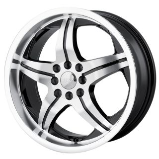 18 inch MPW MP107 Black Wheels Rims 5x100 TT Cavalier PT Cruiser