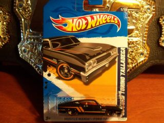 NEW 2012 HOT WHEELS 69 FORD TORINO TALLADEGA black MUSCLEMANIA DIECAST