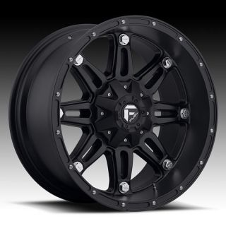 17 WHEELS RIMS FUEL OFF ROAD HOSTAGE BLACK W/ 35X12.50X17 TOYO OPEN