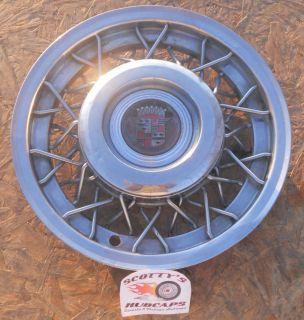 1954 1955 CADILLAC DEVILLE FLEETWOOD SERIES 62 15 WIRE WHEEL COVER 1
