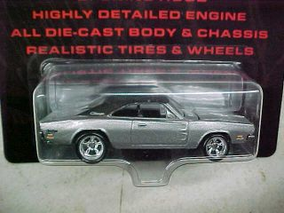HOT WHEELS 1 64 ULTRA HOTS SILVER 69 DODGE CHARGER REAL RIDERS OPENING