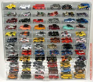 Hot Wheels 1 64 Diecast Display Case 72 LG Comp Redline