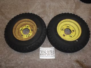 John Deere Model 66 Lawn Mower A660F Rear Tires and Rims