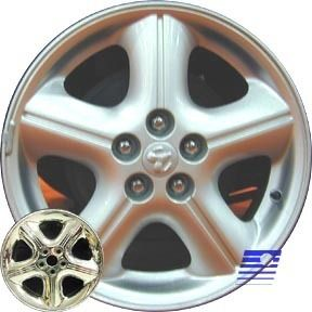 Stratus Sedan 16 x 6 5 Factory Chrome 5 Spoke Wheel Rim 2226