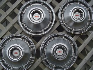 1966 66 Chevy Chevrolet Impala Hubcaps Wheel Covers Center Caps Hub