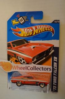 73 Ford Falcon XB * RED * RARE* 2012 Hot Wheels * P Case * Ford 10/10