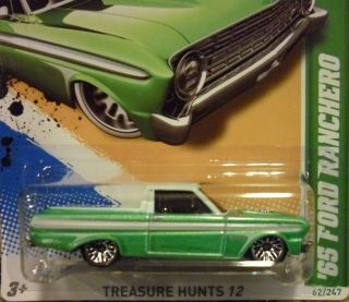 Hot Wheels 2012 65 Ford Ranchero Green Treasure Hunt New
