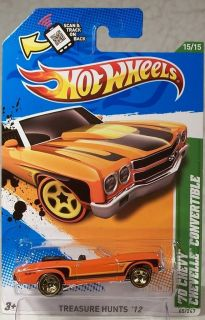 2012 Hot Wheels Treasure Hunt 65 70 Chevy Chevelle Convertible 15 15