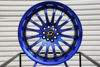 G601 Wheel 5x110 40 Blue Black Rim Fits Malibu Pontiac G5 G6