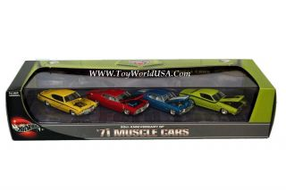 100 Hot Wheels 30th Anniv of 71 Muscle Cars 4 Car Set Ford Dodge Chevy