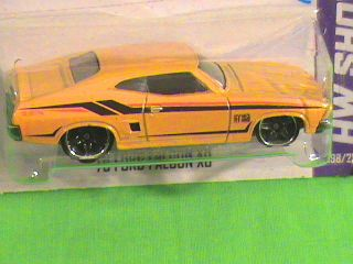Hot Wheels 73 Ford Falcon XB HW Showroom 2013 Yellow Car HW Garage