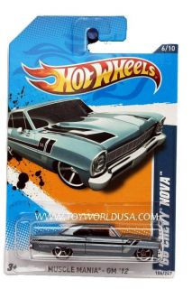 2012 Hot Wheels Muscle Mania GM 106 66 Chevy Nova