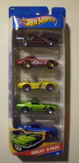 Hot Wheels 2013 Shelby 5 Pack 67 69 GT500 Daytona Coupe Cobra s C