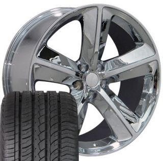 20 Chrome Rims Fit Dodge Challenger SRT Set of 4 Wheels Tires