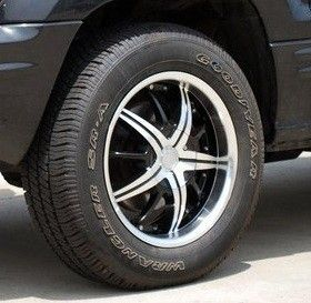 Black Machined Face Lip Wheels Rims Tires Pkg 6x139 7 Escalade