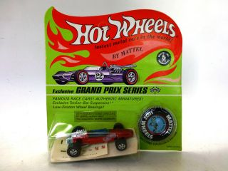 69 VINTAGE BRABHAM REPCO F 1 Mattel Hot Wheels Redline ORIGINAL IN PKG