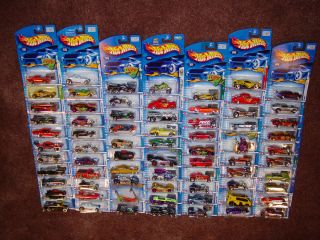 Hot Wheels 72 Count Mixed Case Lot of 2001 2002 Diecast Vehicles