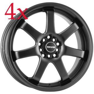 Drag Wheels DR 35 18x7 5 5x100 5x114 3 Flat Black Rims TC Lancer