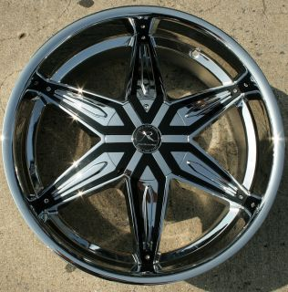 Karizzma Draco KR11 22 Chrome Rims Wheels Avalanche 07 Up 22 x 9 5 6H