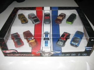 Hot Wheels Ford Mustang Mania 10 Car Box Set