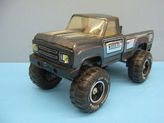 Monster Pickup Truck Vintage Pressed Steel 1970 80s Removable Wheels