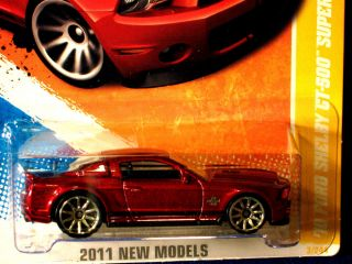 Hot Wheels 2011 10 Ford Shelby GT 500 Super Snake Met Deep Red Fast