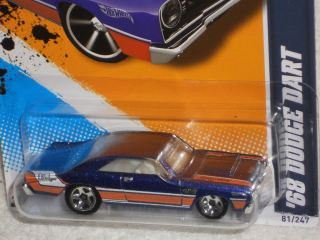 Hot Wheels Muscle Mania Mopar 12 5 10 68 Dodge Dart Blue