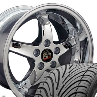 10 5 Chrome Cobra Wheels Nexen Tires Rims Fit Mustang® 94 04