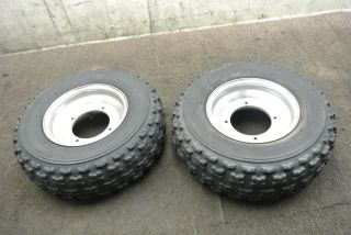 89 Yamaha Banshee YFZ350 YFZ 350 Front Wheel Set Rims Tires Wheels