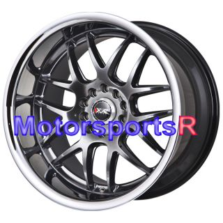 18 XXR 526 Chromium Black Rims Staggered Wheels 98 99 04 Ford Mustang