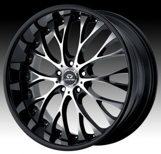 22 inch Black Wheels Rims 5x115 300C Charger Magnum Challenger AWD