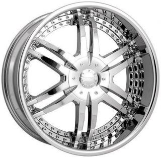 24 inch Strada Denaro Chrome Wheels Rims 5x115 15