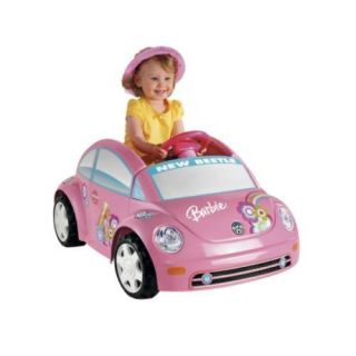 Car Barbie VW Beetle Fisher Price Power Wheels Battery Operated