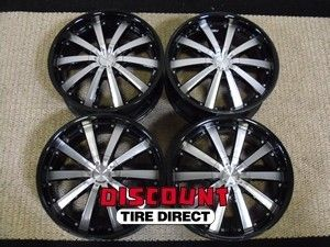 USED 20x8 5 5x115 5 115 ACE Executive Black Machined Face Wheels Rims