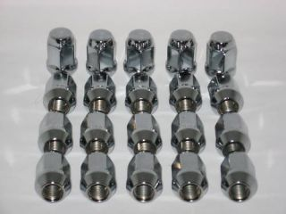 Jeep Wrangler CJ TJ YJ Solid Chrome Wheel Rim Lug Nuts