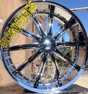 24 24 inch VCT Abruzzi Wheels Rims Tires 5x115 Dodge Charger 05 06 07