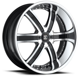 24 inch 2CRAVE No4 Chrome Wheels Rims 5x115 300C Charger Magnum