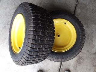 John Deere L120 L130 Rear Rims and Tires